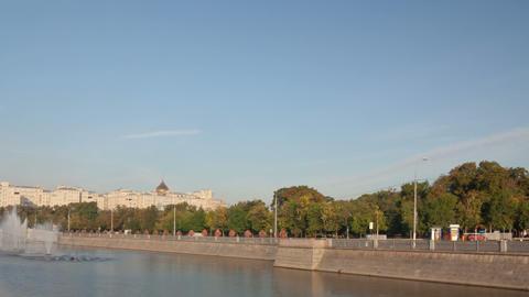 Bolotnaya Square walk hyperlapse Stock Video Footage