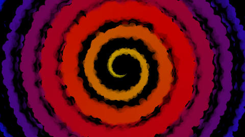 hypnotize color paint Stock Video Footage
