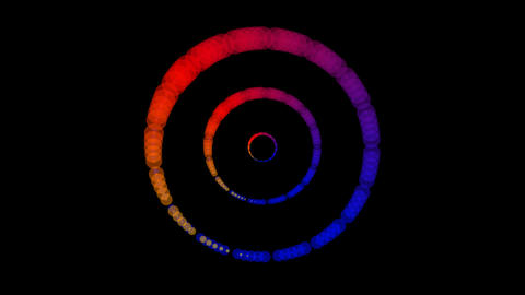 colorful tunnel rings Stock Video Footage