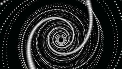 hypnotize white dot Stock Video Footage