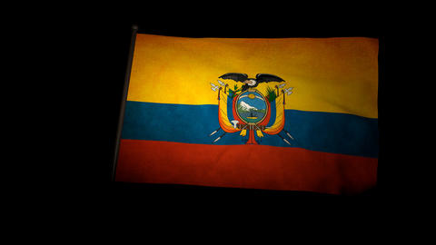 Flag Ecuador 01 Stock Video Footage