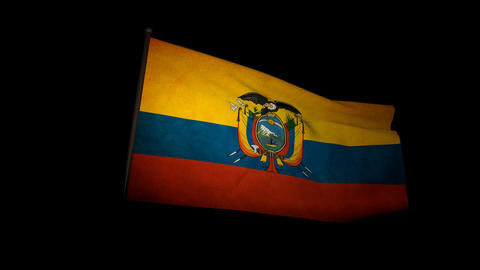 Flag Ecuador 01 Animation