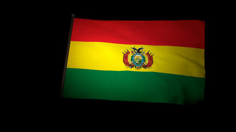 Flag Bolivia 01 Stock Video Footage