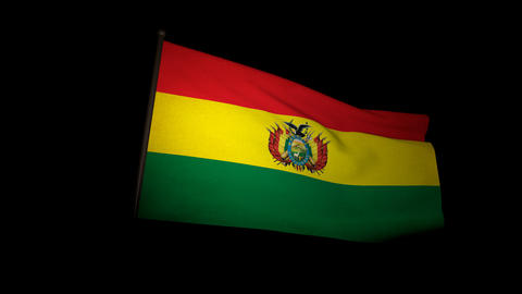 Flag Bolivia 01 Animation