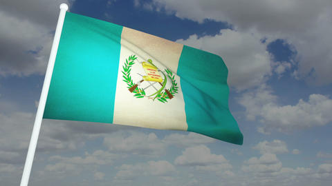 Flag Guatemala 02 Stock Video Footage