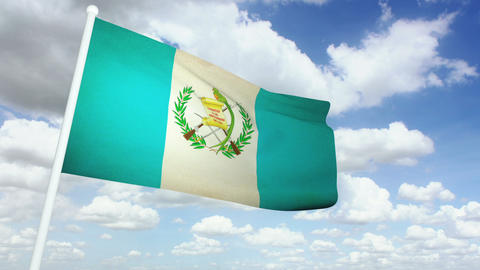 Flag Guatemala 02 Stock Video Footage
