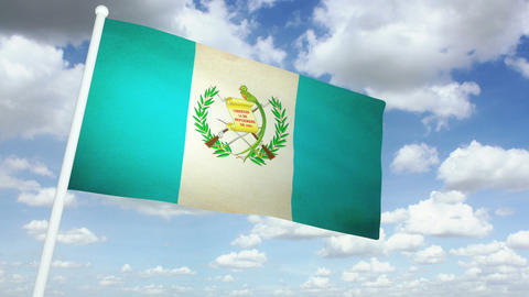 Flag Guatemala 02 Animation