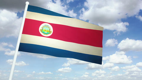 Flag Costa Rica 02 Animation