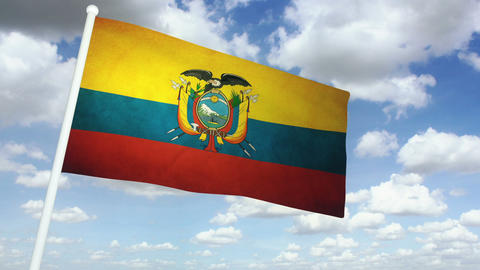 Flag Ecuador 02 Animation