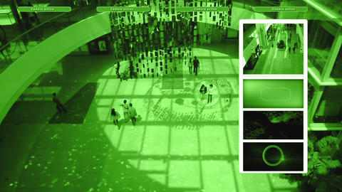 Surveillance Stock Video Footage