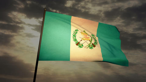 Flag Guatemala 03 Stock Video Footage