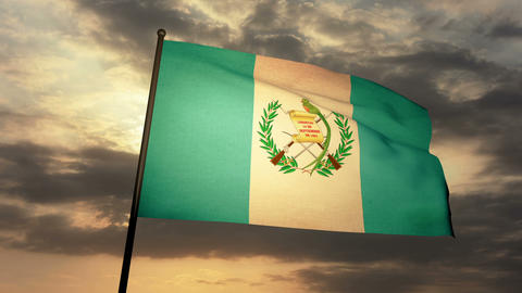Flag Guatemala 03 Animation