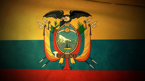 Flag Ecuador 04 Stock Video Footage