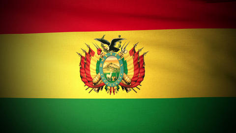 Flag Bolivia 04 Stock Video Footage