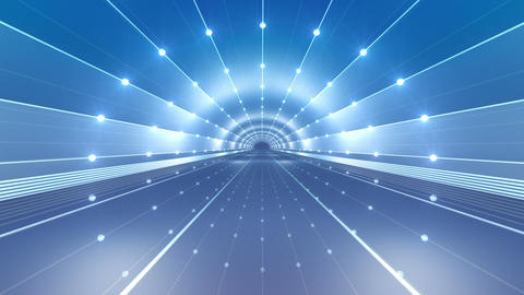 Tunnel tube road c 4d 2 HD Stock Video Footage