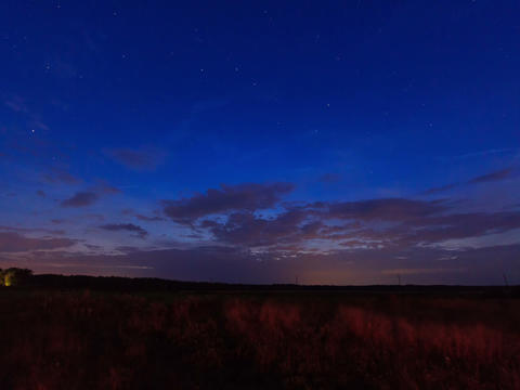 Sunset, then the stars and clouds. Time Lapse. 4x3 Stock Video Footage