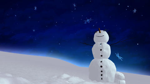 snowman blue sky Stock Video Footage