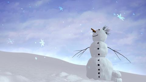 snowman sky Animation