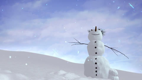 snowman sky Stock Video Footage
