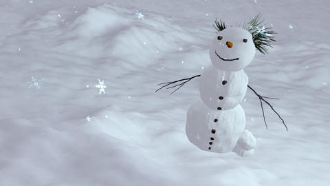 snowman top angle Animation