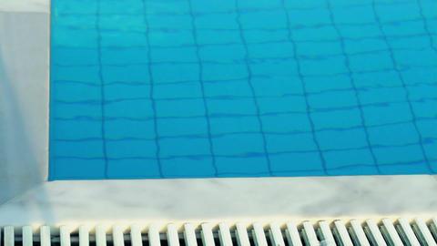Blue pool Stock Video Footage