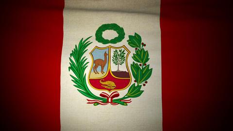 Flag Peru 04 Stock Video Footage