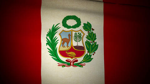 Flag Peru 04 Stock Video Footage