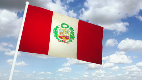 Flag Peru 02 Animation
