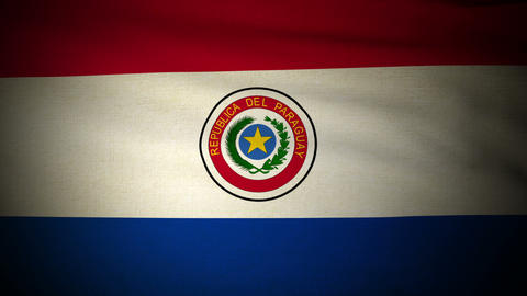 Flag Paraguay 04 Stock Video Footage