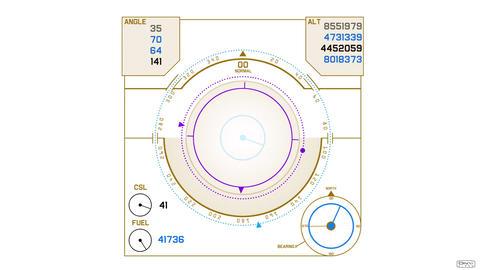 Radar GPS screen display,computer game navigation interface Stock Video Footage