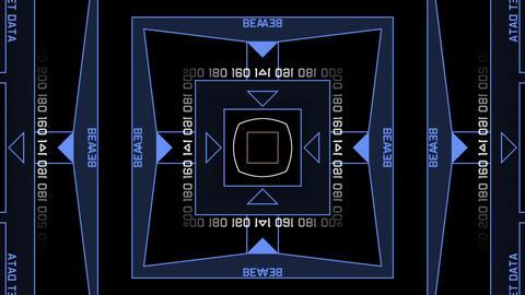 computer tech digital interface,Radar GPS screen display Stock Video Footage