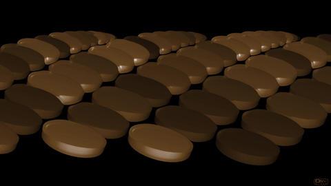 brown pills & drugs Stock Video Footage