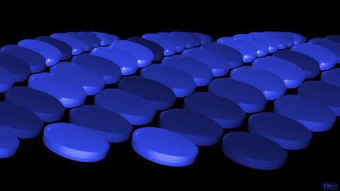 blue pills & drugs Stock Video Footage