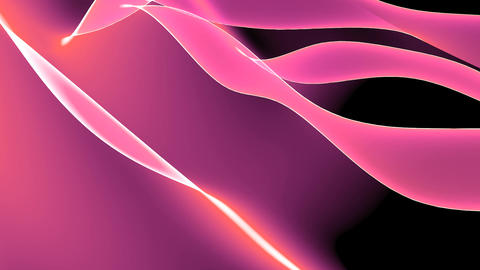 Abstract pink light curve,satin ribbon & soft silk... Stock Video Footage