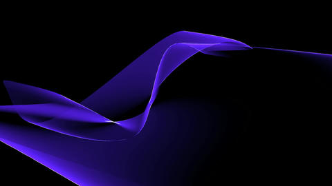 Abstract blue curve light & tech web laser rays,flowing digital wave backgro Animation