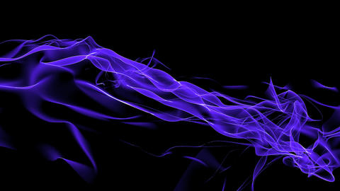 Abstract blue curve mesh & tech web laser... Stock Video Footage