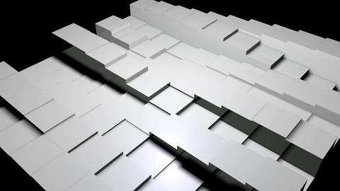 gray plastic boxes rhythm Up and down movement Animation