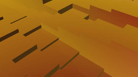 golden boxes rhythm Up and down movement Stock Video Footage