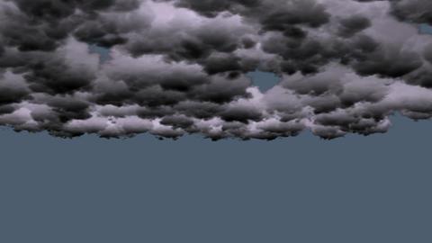 dark clouds rolling in sky Stock Video Footage
