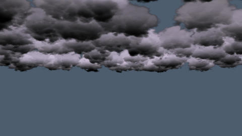 dark clouds rolling in sky Animation
