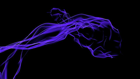 Abstract blue curve mesh light & tech web laser rays,flowing digital wave ba Animation