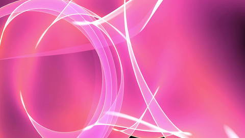 Abstract pink light annulus,satin ribbon & soft silk... Stock Video Footage