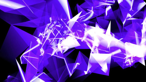 Abstract blue glass fragment curve & laser rays,flowing digital wave backgro Animation