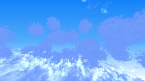 flying shuttle in clouds closeup,high altitude Animation