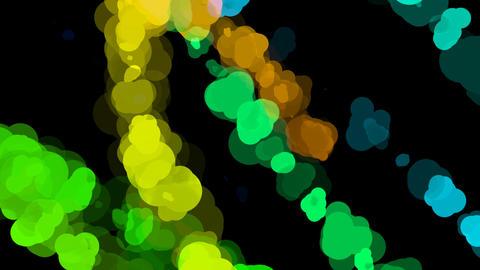 rainbow color splatter Stock Video Footage