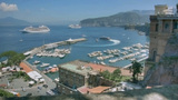 Jetfoil Leaving Marina Piccola Sorrento Italy stock footage