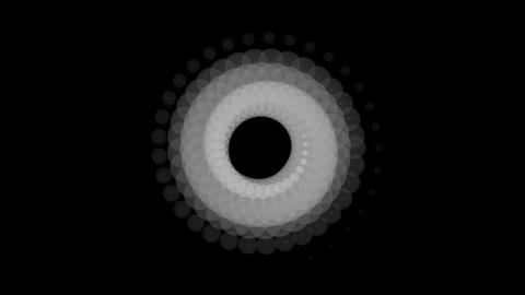white circle rotation Stock Video Footage