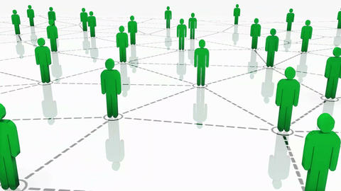 Network Animation Green Animation