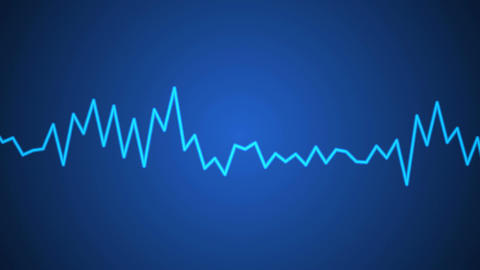 blue audio graphic Stock Video Footage