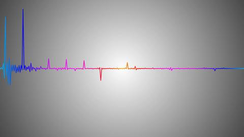 colorful audio spectrum Stock Video Footage